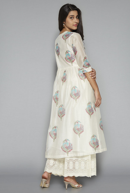 Zuba by Westside Off White Printed Kurta