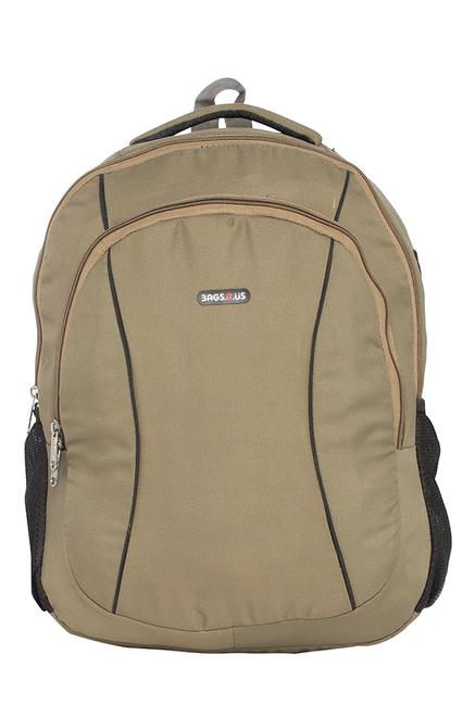 BagsRUs Ascent Beige Solid Laptop Backpack