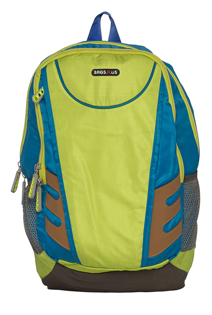 BagsRUs Fury Persian Blue & Green Solid Laptop Backpack