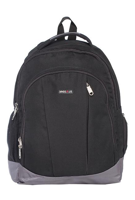 BagsRUs Surge Black & Grey Solid Laptop Backpack