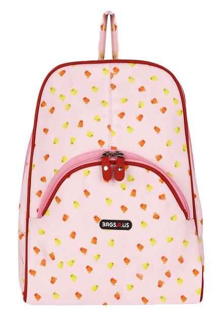 BagsRUs Petite Pink Printed Polyester Backpack