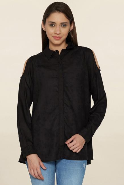 Globus Black Cold Shoulder Shirt