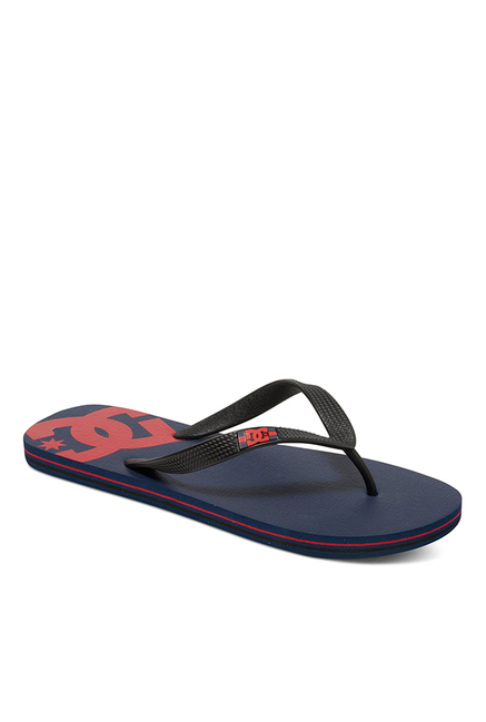 DC Spray Black & Navy Flip Flops