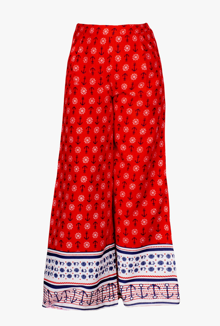 5e325d2837 Buy Naughty Ninos Red Printed Relaxed Fit Palazzo for Girls Clothing Online  @ Tata CLiQ