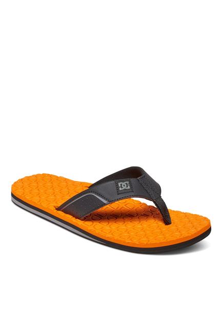 DC Kush Black & Orange Thong Sandals