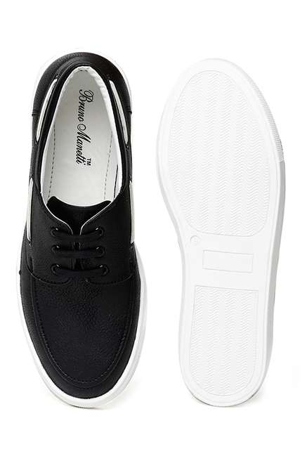 Bruno Manetti Black Boat Shoes