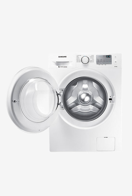 Samsung 8Kg Front Load Fully Automatic Washing Machine White (WW80J4233KW/TL, White)