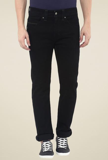 933d703e7b1 Buy Levi s 513 Black Slim Fit Cotton Jeans for Men Online   Tata CLiQ