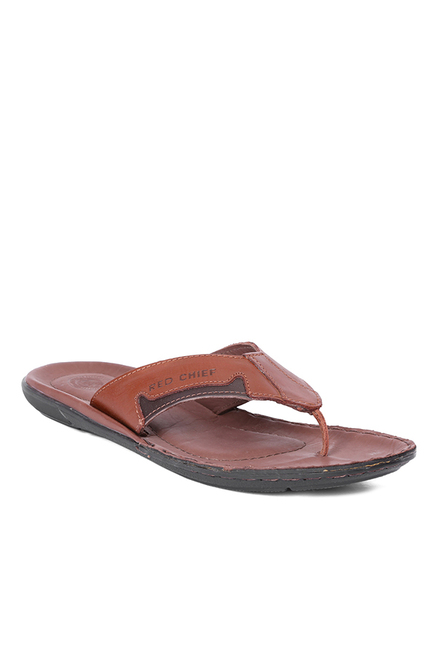 Red Chief Brown Thong Sandals