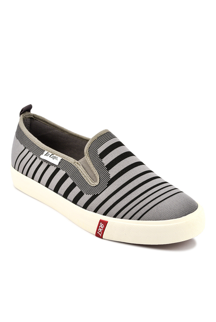 Lee Cooper Grey & Black Plimsolls