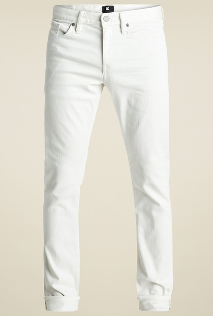 DC White Regular Fit Jeans