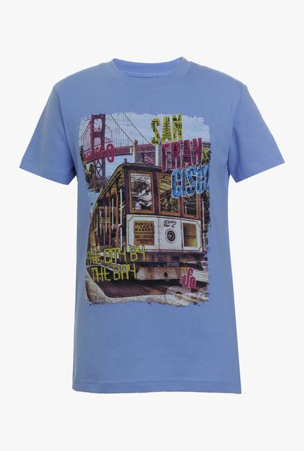 b15890a88 Buy UFO Vista Blue Printed T Shirt for Boys Clothing Online @ Tata CLiQ