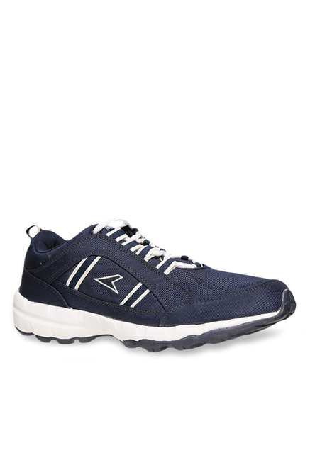 f1116e0809bc Buy Power Grip Navy   White Running Shoes for Men at Best Price   Tata CLiQ