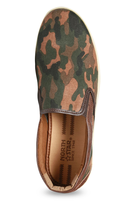 390c58664c84d Buy North Star by Bata Camo Brown & Green Plimsolls for Men at Best ...
