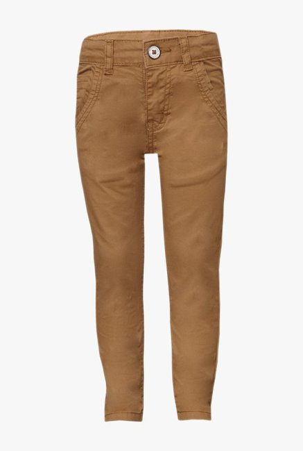 Tales & Stories Kids Brown Solid Jeans