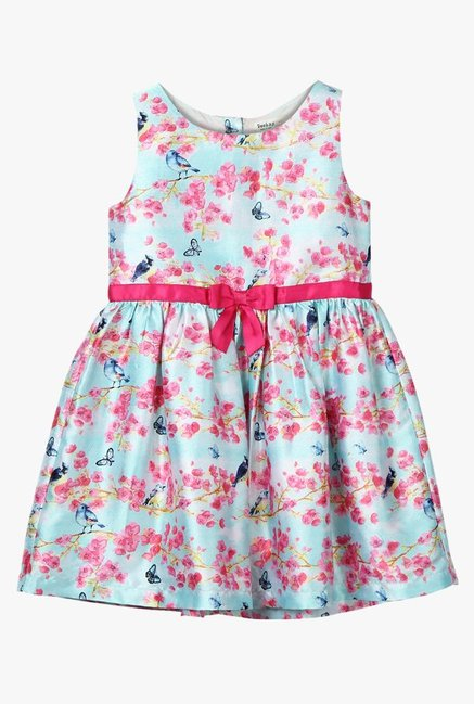 aed163d913366 Buy Beebay Blue Digital Print Dress for Girls Clothing Online @ Tata CLiQ