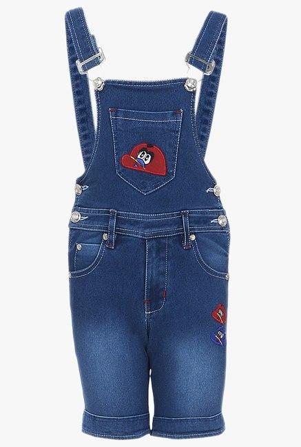 0ff470b2c Buy FirstClap Dark Blue Denim Dungaree for Boys Clothing Online ...