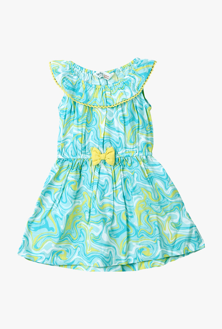 dee51cf241ce5 Buy Beebay Turquoise Printed Dress for Infant Girls Online @ Tata CLiQ