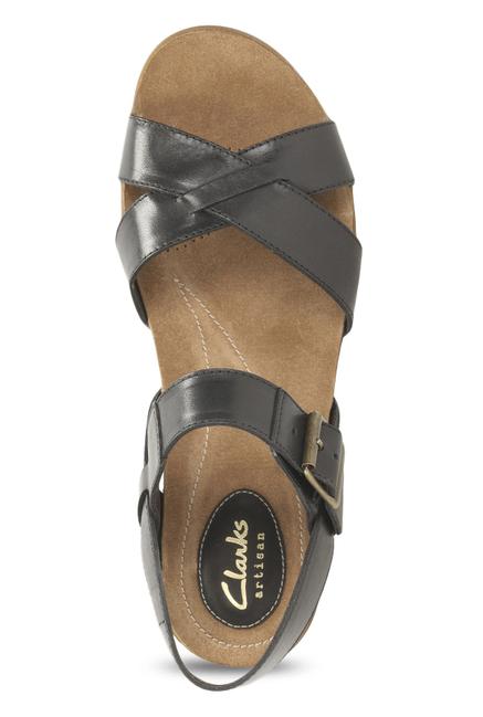 07e09c942 Buy Clarks Raffi Flower Black Ankle Strap Sandals for Women at Best ...