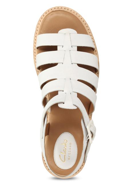 13d61d7440e Buy Clarks Lydie Kona White Fisherman Sandals for Women at Best ...