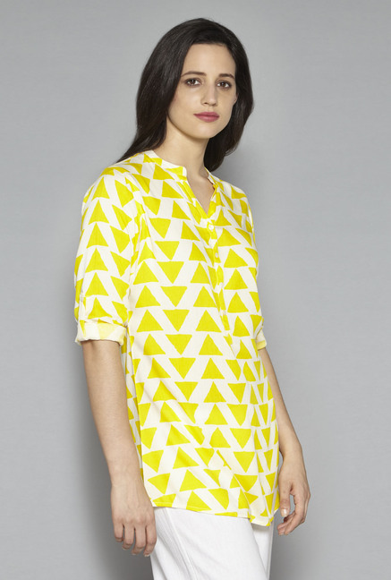 Utsa by Westside Yellow Printed Kurti