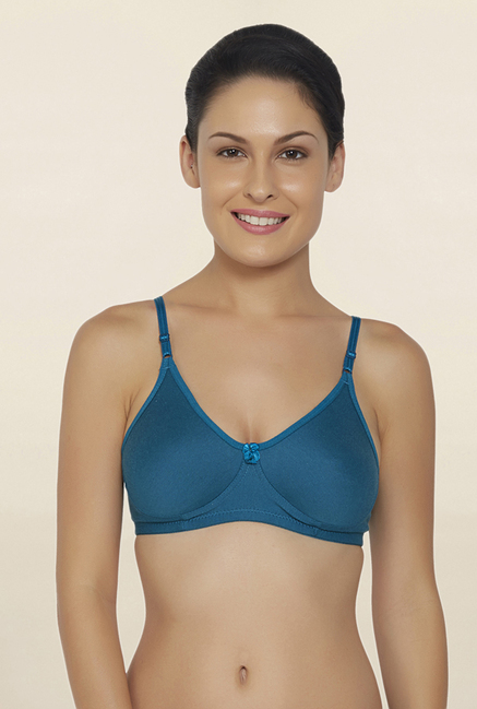 Libertina Teal Non Wired Non Padded T Shirt Bra