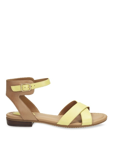 94c4544ca Buy Clarks Viveca Zeal Yellow   Brown Ankle Strap Sandals for Women ...