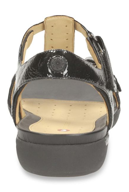 680c44f3a6a Buy Clarks Un Voshell Black T-Strap Sandals for Women at Best Price ...