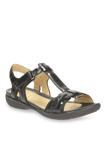 90c1351f9bb Buy Clarks Un Voshell Black T-Strap Sandals for Women at Best Price   Tata  CLiQ