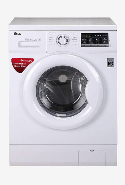 LG FH0G7QDNL02 7 Kg Fully Automatic Front Load Washing Machine (White)