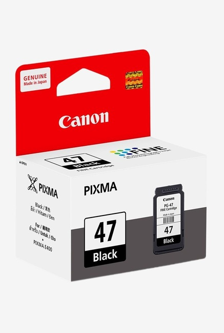 Canon PG 47 Ink Cartridge  Black  Canon Electronics TATA CLIQ