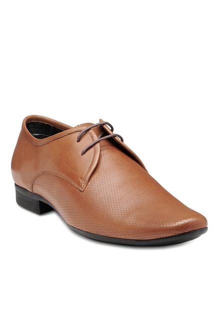 772ccbf20e0 Buy Franco Leone Tan Derby Shoes for Men at Best Price   Tata CLiQ