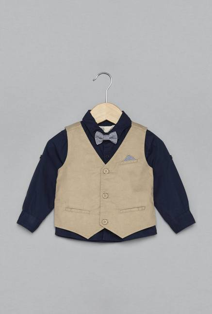 d6c50857f Buy Baby HOP by Westside Navy Malcolm Shirt for Infant Boys ...