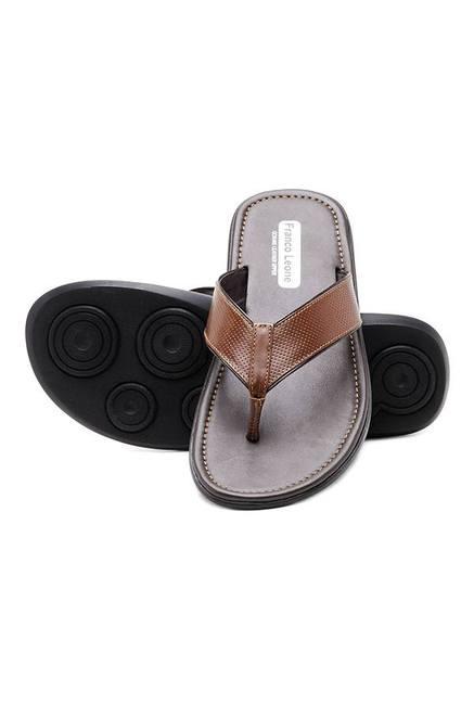 95a716cc39e7d Buy Franco Leone Tan Thong Sandals for Men at Best Price   Tata CLiQ