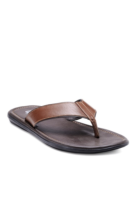 26f152eedcc Buy Franco Leone Tan Thong Sandals for Men at Best Price   Tata CLiQ
