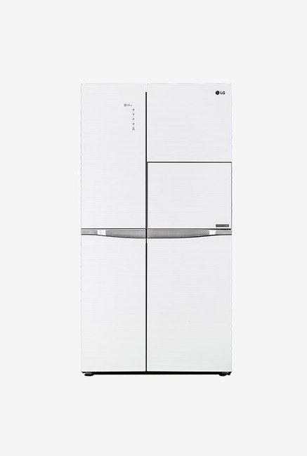 LG GC-C247UGUV 675 L Frost Free Side by Side Refrigerator, Aria White