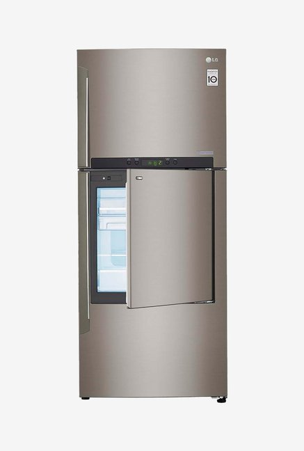LG GC-D432HLAM 426L 3 Star Double Door Refrigerator (Silver)