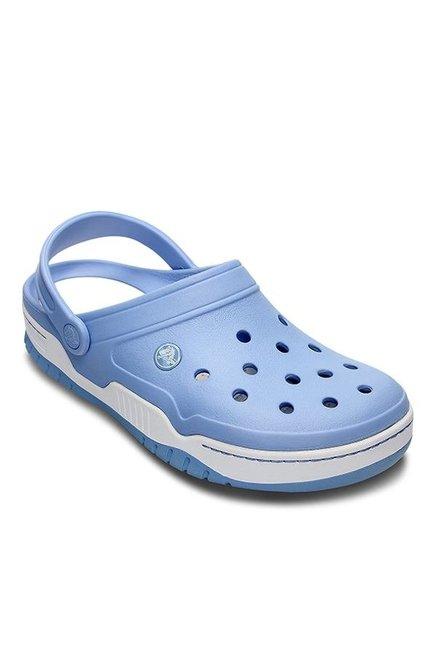 c89a5dc8a Buy Crocs Front Court Sky Blue & White Back Strap Clogs for Men at ...