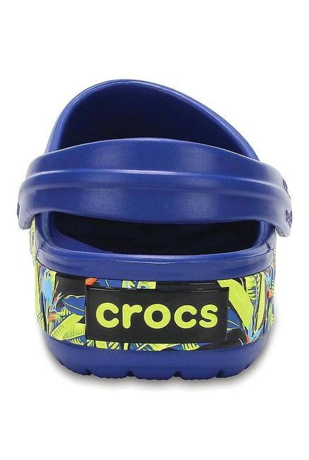 Crocs Crocband Tropical IV Navy Back Strap Clogs