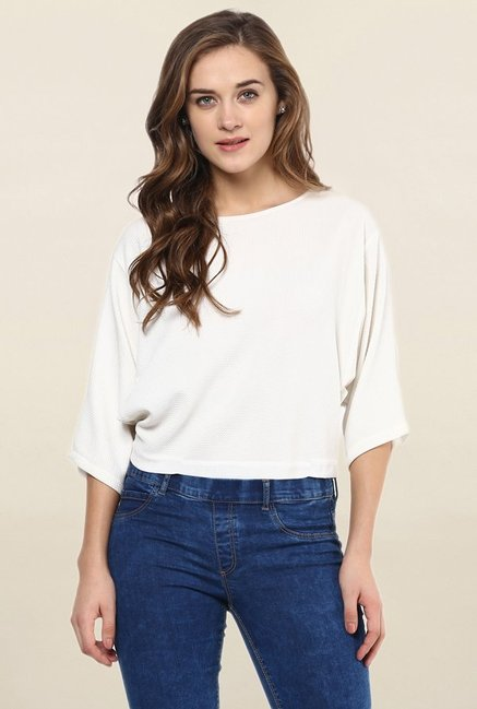 Miss Chase White Solid Top