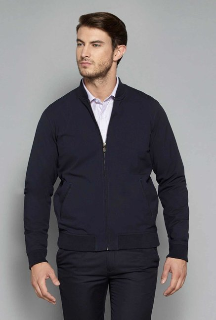 Weststreet by Westside Navy Slim Fit Jacket