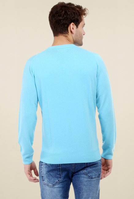 456d0da9975e Buy Red Tape Turquoise V-Neck Full Sleeves Sweater for Men Online ...