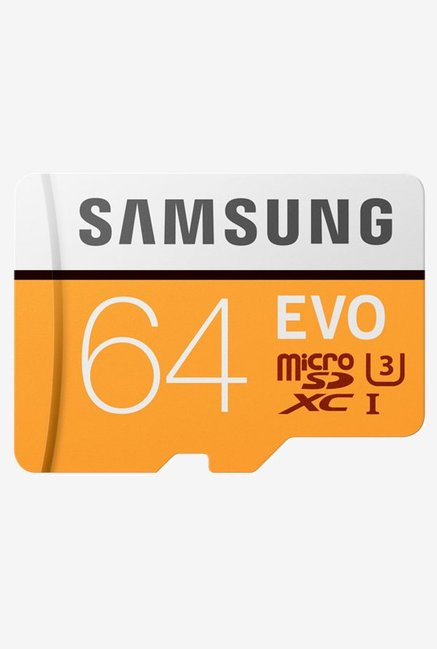 Samsung EVO 64 GB MicroSDXC Memory Card with SD Adapter