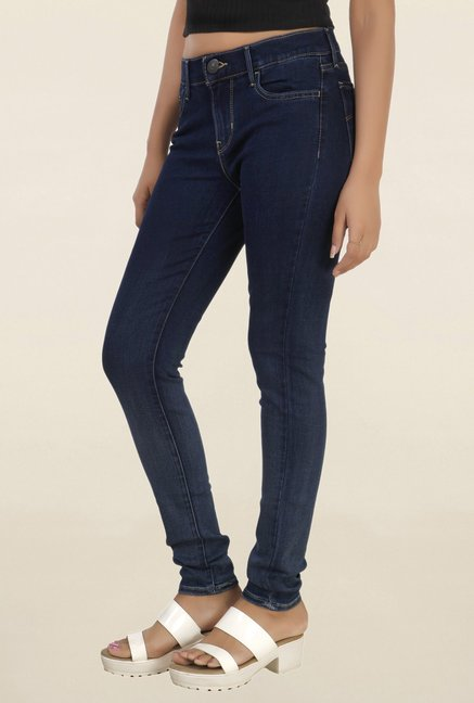 Levi's 710 Blue Skinny Fit Lightly Washed Jeans