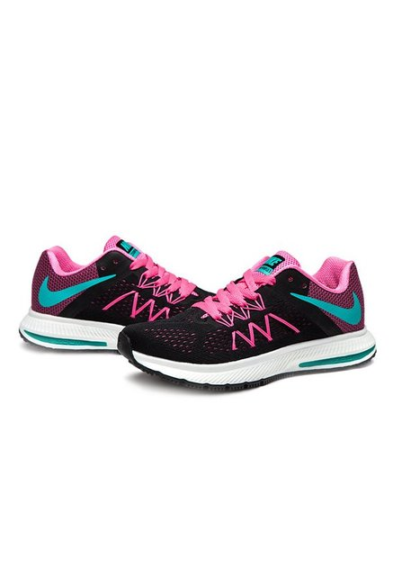 new style d62e0 2f179 Buy Nike Zoom Winflo 3 Black & Pink Running Shoes for Women ...