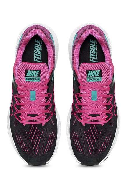 new arrivals 379c8 c95f0 Nike Zoom Winflo 3 Black   Pink Running Shoes