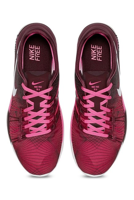 19824115357f Buy Nike Free TR 6 PRT Pink Running Shoes for Women at Best Price ...