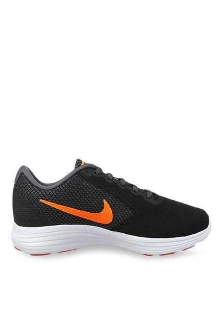 bf618107b7c5 Buy Nike Revolution 3 Black Running Shoes for Men at Best Price   Tata CLiQ