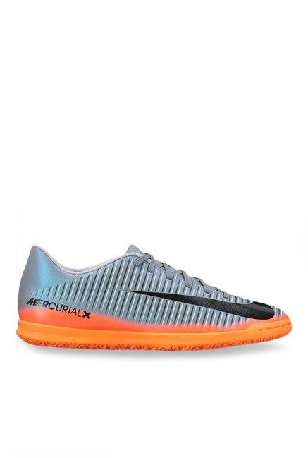 finest selection 40dd9 c2826 Nike Mercurialx Vortex III CR7 IC Grey Training Shoes