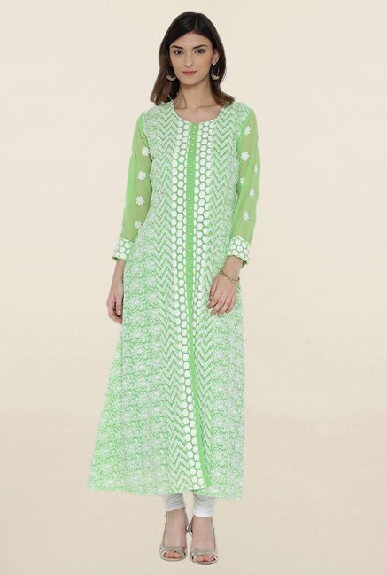 Shree Green Embroidered Kurta